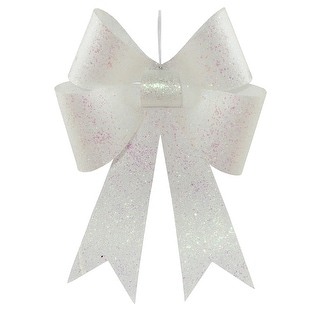 18'' White Sequin Bow 2/Bag
