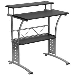 Agrol White Wood And Metal Computer Desk Free Shipping