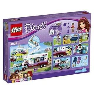 LEGO Friends 41125 BUILDING KIT, Kids Toy Horse Vet Trailer LEGO SET - Black