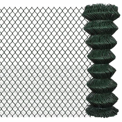 "vidaXL Chain Fence 4' 1"" x 49' 2"" Green"