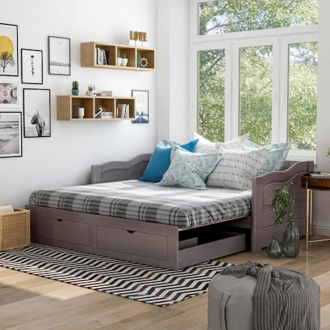 Furniture of America Adele Expandable 2-drawer Sleeper Daybed