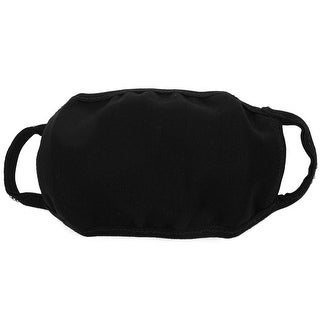 Unique Bargains Soft Stretchy Ear Loop Face Mouth Mask Muffle Solid Black