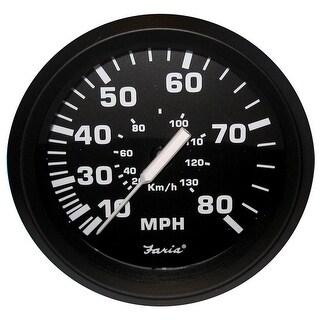 Faria Beede Faria Euro Black 4 Speedometer 80mph Mechanical 32812