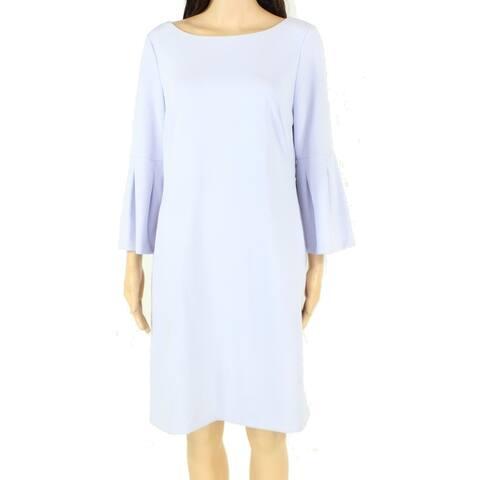 Lauren by Ralph Lauren Womens Dress Blue Size 16 Sheath Bell Sleeve