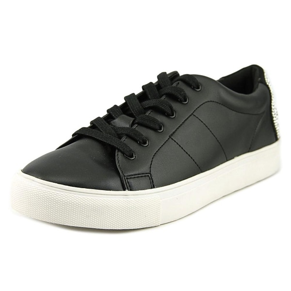b45d08a32ce Shop Steve Madden Smiley Women Leather Black Fashion Sneakers - Free ...