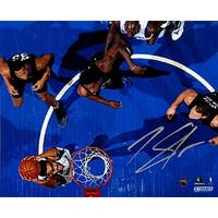 KarlAnthony Towns signed Minnesota Timberwolves 8x10 Photo top view Steiner Hologram dunk vs Hawks