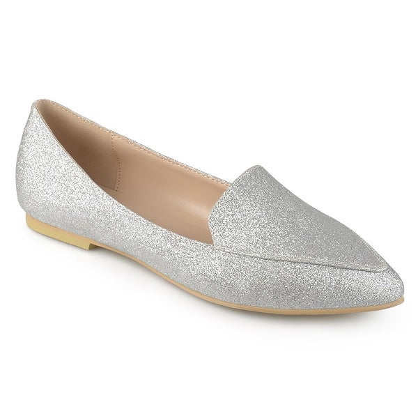 Journee Collection Womens kinley Closed Toe Mules, Silver, Size 8.0 - 8