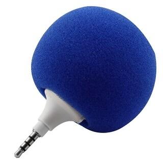 Portable Mini Ball Shape Music Speaker Player Blue for Laptop PC Phone
