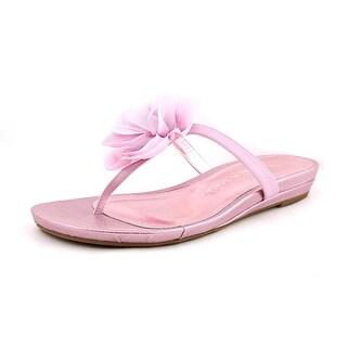 Nina Margery Open Toe Canvas Flip Flop Sandal