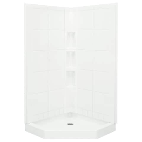 """Sterling 72040106 Intrigue 40-1/4"""" x 80-1/4"""" Vikrell Shower with Drain"""