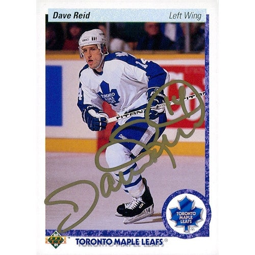 brand new 218dd 22777 Signed Reid Dave Toronto Blue Jays 1990 Upper Deck Hockey Card autographed