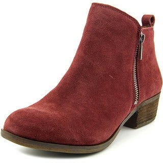 Lucky Brand Basel Round Toe Suede Ankle Boot