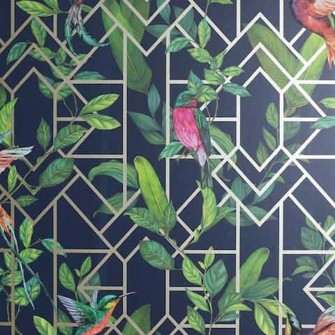 Arthouse Deco Tropical Geometric Unpasted Wallpaper