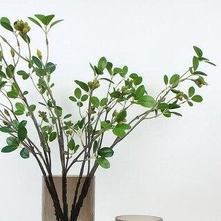 """G Home Collection Artificial Banyan Leaf Stem 28"""" Tall"""