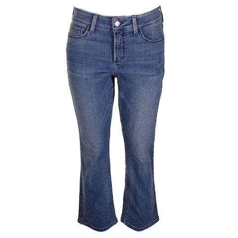 Nydj Blue Billie Tummy Control Ankle Boot Cut Jeans