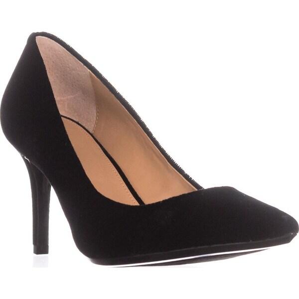 Calvin Klein Gayle Classic Pump Heels, Black Velvet - 9.5 us / 40 eu