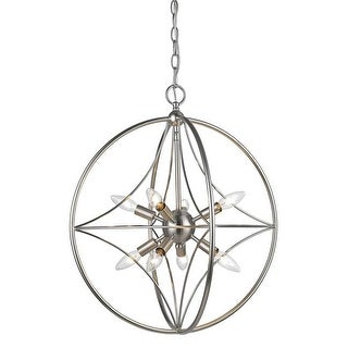 Z-Lite 20 in. Cortez 8 Light Brushed Nickel Pendant Ceiling Light
