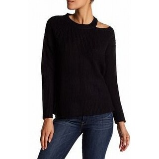 RDI Black Women's Size Medium M Knit Cut-Out Pullover Sweater