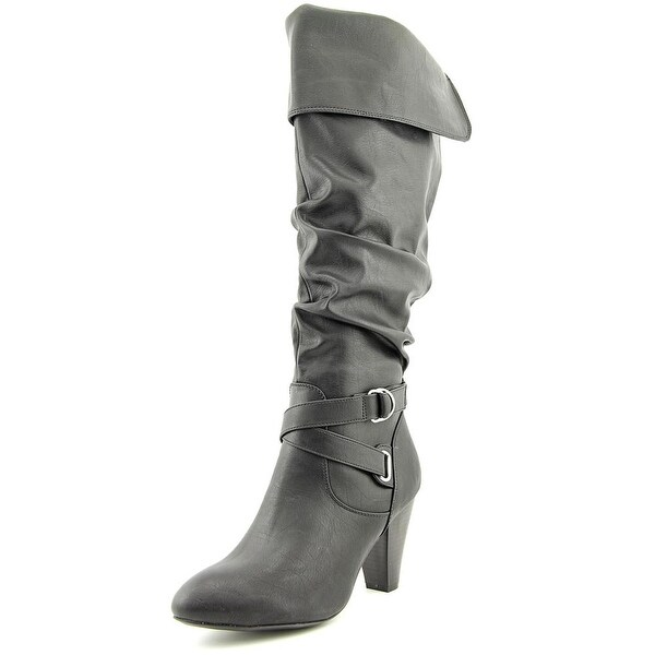 Rampage Ellesandra Round Toe Synthetic Knee High Boot