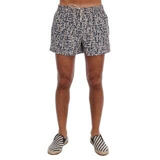 Dolce & Gabbana Dolce & Gabbana Beige Blue Print Beachwear Shorts - L