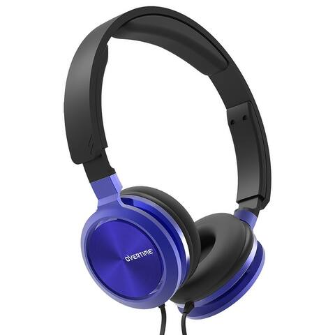 Overtime Remix Stereo Wired Headphones, Over-Ear Headphones Adjustable Headband