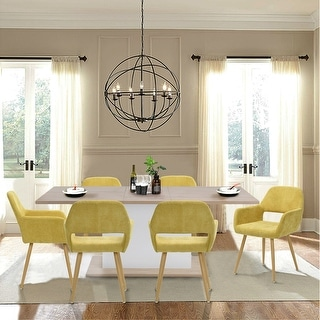 Link to Carson Carrington Saimovaara Modern Linen Dining Chair (Set of 2) Similar Items in Dining Room & Bar Furniture