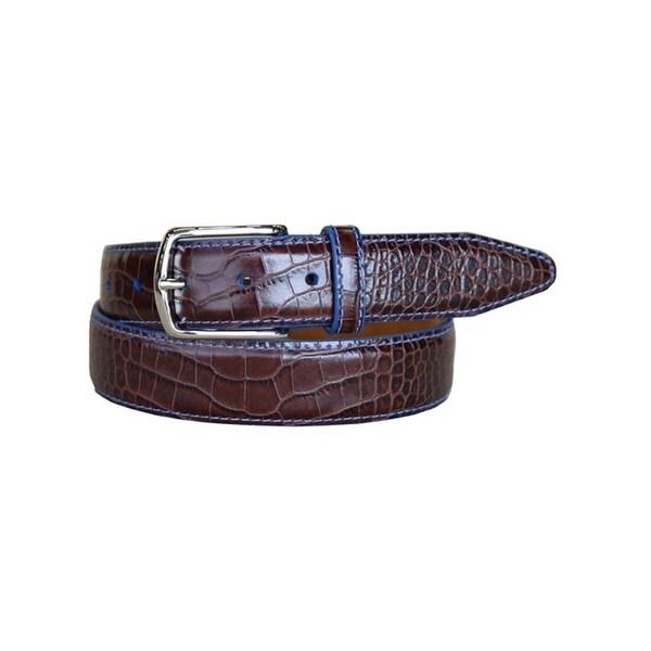 Lejon Western Belt Mens Anzio Calfskin Leather Brown