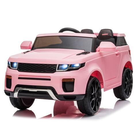 """12V Kids Ride On Car 2.4GHZ Remote Control LED Lights Pink - 7'6"""" x 9'6"""""""