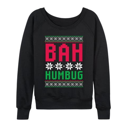 Bah Humbug - Women's Lightwieght French Terry Pullover