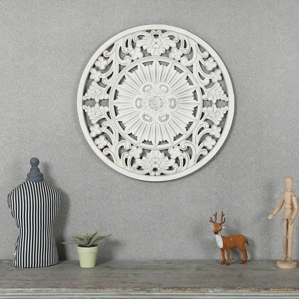 Circular Off-White Wall Decor. Opens flyout.