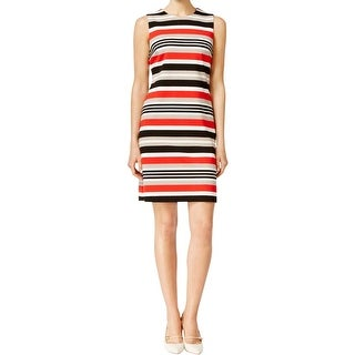 Calvin Klein Womens Petites Wear to Work Dress Ponte Striped