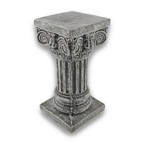 Solid Concrete Roman Pillar Mini Statue Pedestal - 8.25 X 4 X 4 inches
