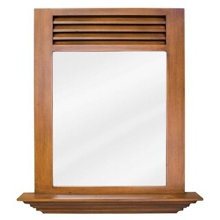 Elements MIR051 Lindley Warm Caramel 25-1/2 x 30 Inch Mirror