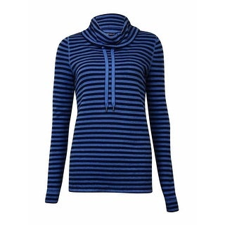 American Living Women's Striped Cowl Cotton Blend Sweater