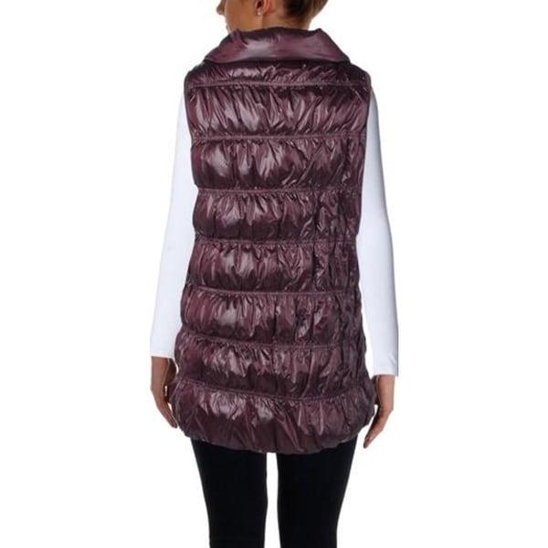 Eileen Fisher Womens Petites Outerwear Vest Down Funnel Neck