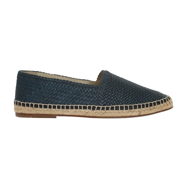 523b79f79 Shop Dolce & Gabbana Blue Leather Woven Loafers Espadrilles - eu42-us9 - Free  Shipping Today - Overstock - 21510211