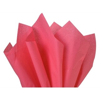 "Pack Of 480, Solid Azalea Pink Tissue Paper 20 X 26"" Sheet Half Ream Made From 100% Post Industrial Recycled Fibers Made In Usa"