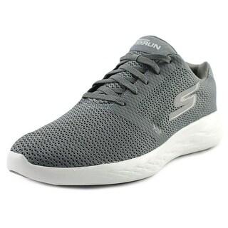 Skechers GoRun 600 - Refine Women Round Toe Canvas Gray Sneakers