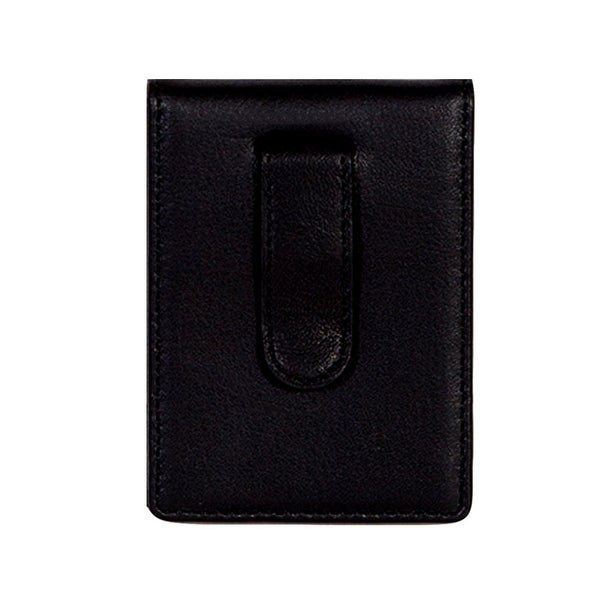 Scully Western Wallet Soft Plonge Leather Magnetic Clip Black - One size