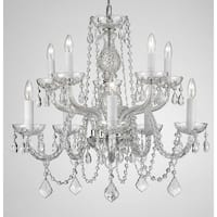 Swarovski Crystal Trimmed Chandelier Lighting Dressed