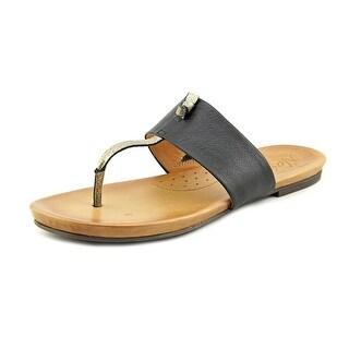 Naya Crescent Open Toe Leather Thong Sandal