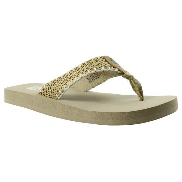 Shop Yellow Box Womens 32031 Beige Flip Flops Size 9 - Overstock - 22899377-8455