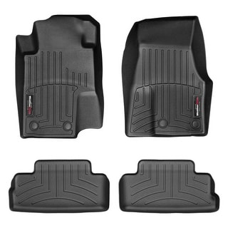 WeatherTech 444681-441392 Black Front & Rear FloorLiner: Ford Mustang 2012 - 2013 With Retention Device