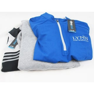 Adidas 3 Pack 1/4 Zip Pullover Small Blue Gray and Black Stripe Limited Edition