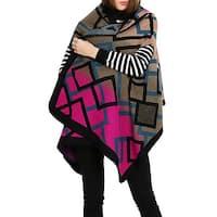 QZUnique Women's VestCape Shawl Wrap Sleeveless Cardigan Sweater Coat