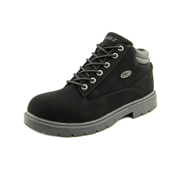 Lugz Monster Mid SP Men  Round Toe Leather Black Work Boot