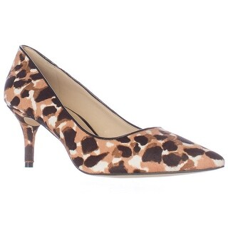 Nine West Margot Pointed-Toe Classic Pumps - Natural Multi