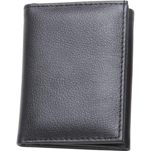 Embassy Men's Solid Genuine Buffalo Leather Tri-Fold Wallet