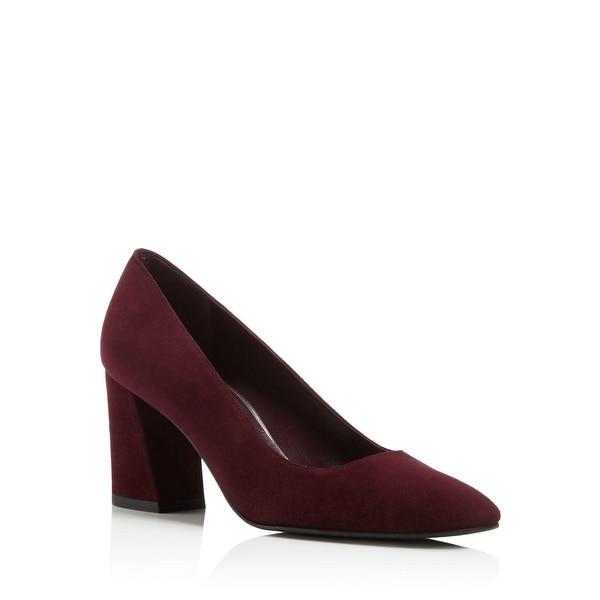 41073e9bd212 Shop Stuart Weitzman Mary Suede Pumps Heels Shoes Bordeaux - 5.5 B(M ...
