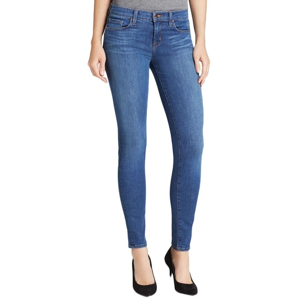 J Brand Womens Skinny Jeans Denim Low-Rise